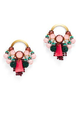 Pink and Green Multicolored Hoops by Elizabeth Cole