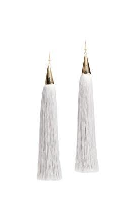 Tassel Cone Earrings by Eddie Borgo