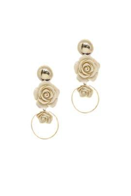 Cream Roses Earrings by Ettika