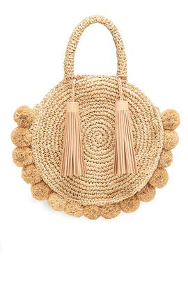 Natural Straw Circle Tote by Loeffler Randall