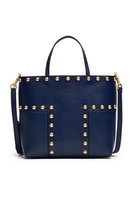 342fc239315 Block T Stud Mini Tote by Tory Burch Accessories for $75 | Rent the Runway