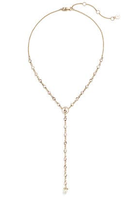 Gold Link Lariat by Marchesa Jewelry