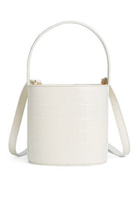 Croc Embossed Mini Bissett Bag by Staud Accessories