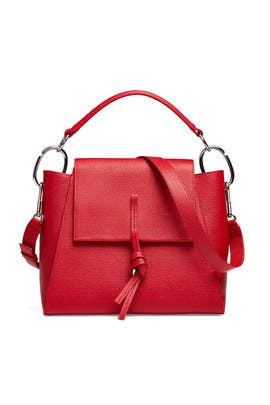 Red Leigh Top Handle Satchel by 3.1 Phillip Lim Accessories