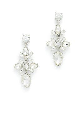 Crystal Floral Earrings by Slate & Willow Accessories