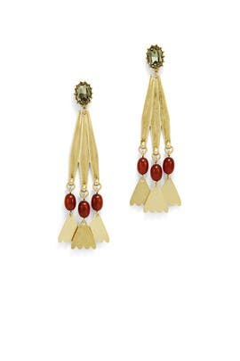 Gold Sierra Statement Earrings by Lulu Frost