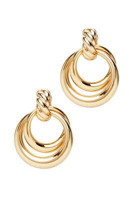 Noelle Double Door Knocker Hoops by Loeffler Randall