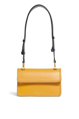 Yellow Calfskin Beat Bag by Marni Accessories