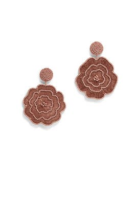 Beaded Flower Earring by Kenneth Jay Lane