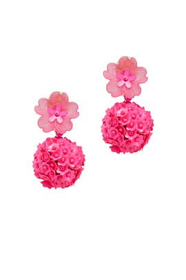 Fuchsia Fleur Drop Earrings by Sachin & Babi Accessories