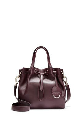 Burgundy Grand Ambition Small Bucket Bag by Cole Haan Accessories