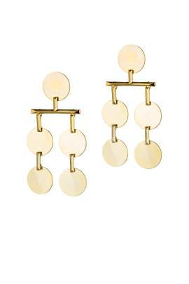 Gold Token Chandelier Earrings by Eddie Borgo