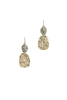 Gold Disk Earrings by Alexis Bittar