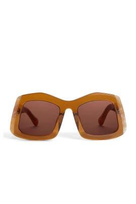 Tan Wyndham Sunglasses by Karen Walker
