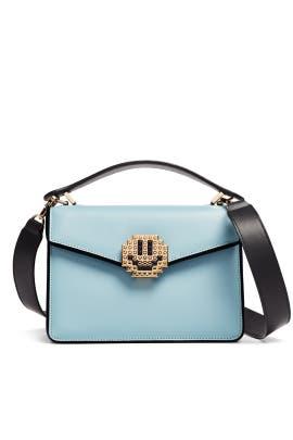 Blue Pixie Metal Smile Bag by Les Petits Joueurs