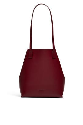 Red Leather Tote by Jil Sander Navy Handbags