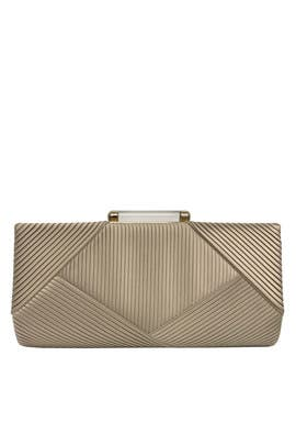 Ribbed Satin Clutch by Sondra Roberts