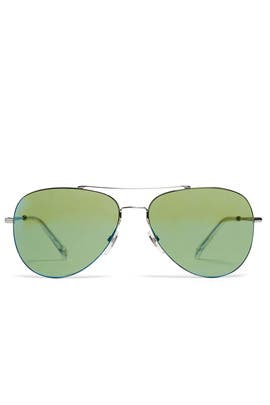 Green Aviator Sunglasses by Gucci