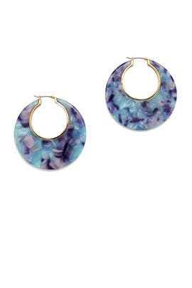 Blue Multi On the Dot Hoops by kate spade new york accessories