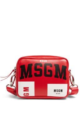 Iconic Logo Print Shoulder Bag by MSGM Handbags