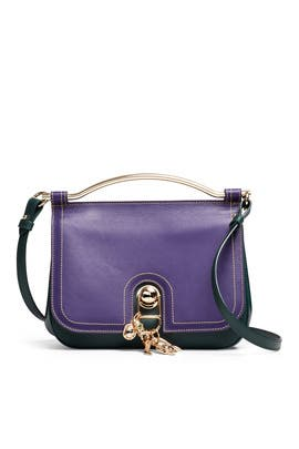 Purple Charm Bag by Carven Accessories