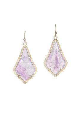 Amethyst Alex Earrings by Kendra Scott