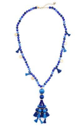 Blue Pretty Poms Tassel Pendant by kate spade new york accessories