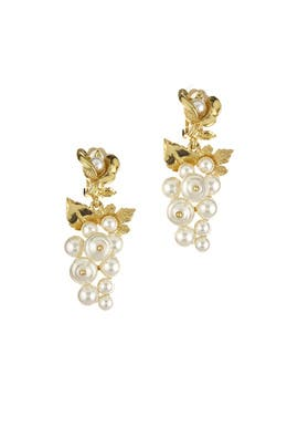 Baroque Pearl Earrings by Oscar de la Renta