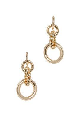 Gold Iven Earrings by Dannijo