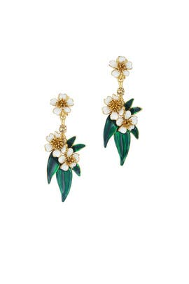 Delicate Flowers Earrings by Oscar de la Renta
