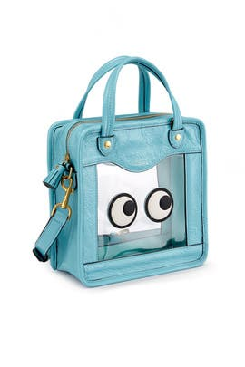 Aqua Rainy Day Eyes Crossbody by Anya Hindmarch
