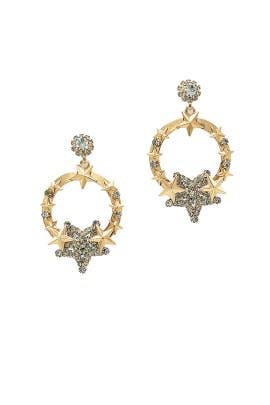 Diamond Star Gold Hoops by Elizabeth Cole