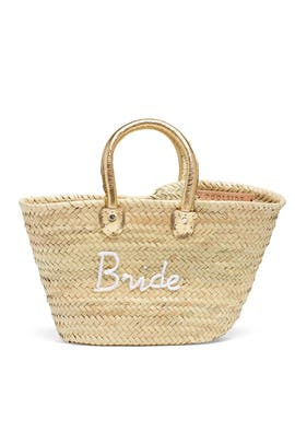 Palm Straw Medium Bride Tote by Poolside