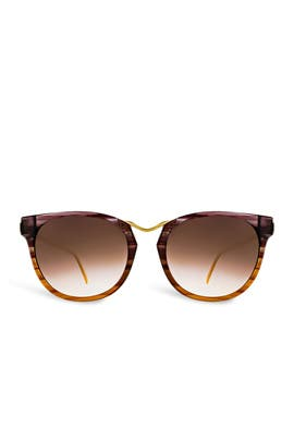 Gradient Gummy Sunglasses by Thierry Lasry