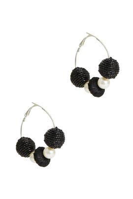 Bead Pearl Hoops by Area Stars