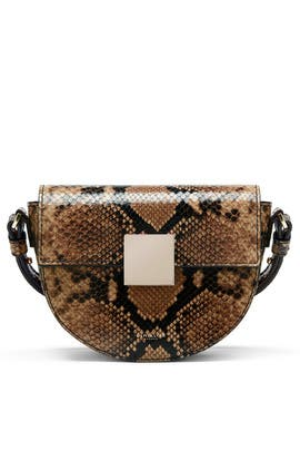 Cognac Snake Mini Oslo Crossbody by DeMellier London