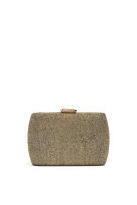 Bronze Glitter Box Clutch by Sondra Roberts