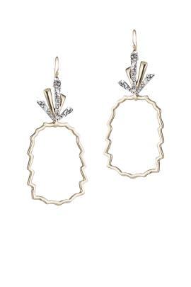 Pineapple Wire Earrings by Alexis Bittar