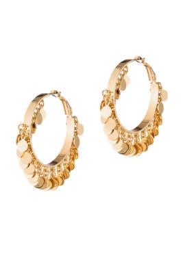 Gold Paillette Hoop Earrings by Eddie Borgo