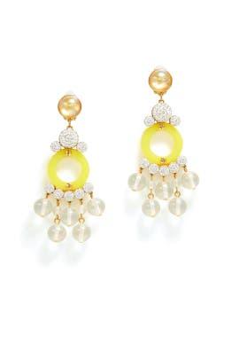 Yellow Boulevard Earrings by Lele Sadoughi