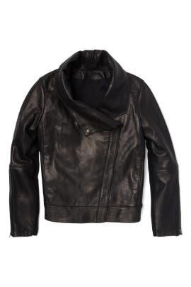 Black Petal High Collar Jacket by Helmut Lang