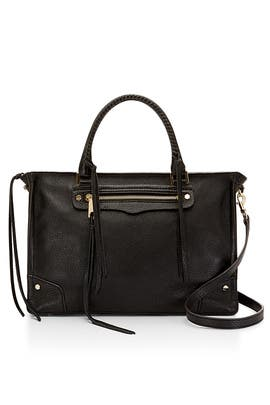 Black Regan Satchel by Rebecca Minkoff Accessories