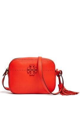 Red Mcgraw Camera Bag by Tory Burch Accessories
