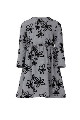 Kids Flocked Flowers Dress by Il Gufo Kids