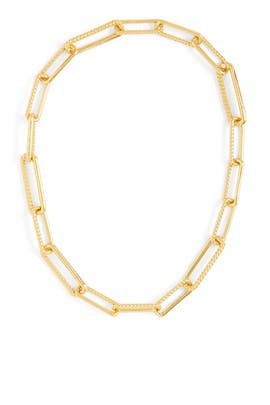 Gold Half Radial Chain Necklace by Missoma