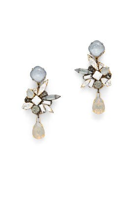 Crystal Metallic Burst Earrings by Erickson Beamon