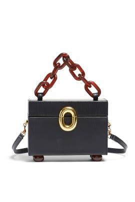Onyx Cinema Box Bag by Lizzie Fortunato
