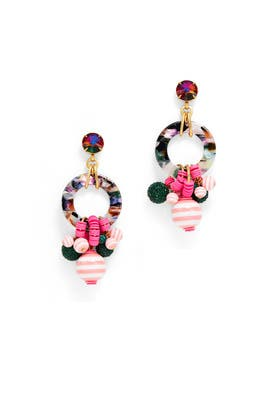 Pink Multicolored Hoops by Elizabeth Cole