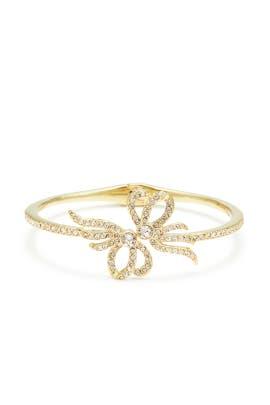 Gold Crystal Bow Bangle by Jenny Packham