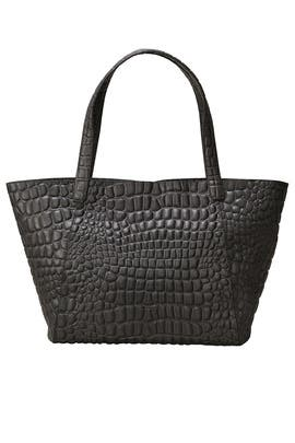 Grey Crocodile Tote by Liebeskind